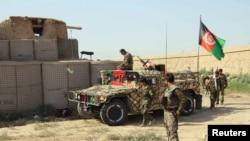 Кундуздағы ауған әскерилері. Ауғанстан, 27 қыркүйек 2016 жыл (Көрнекі сурет).