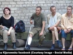 Марьяна Кияновская в зоне АТО