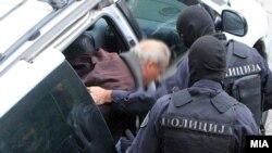 """Архивска фотографија: Уапсените во случајот """"Шпион""""."""
