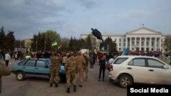 Повалення пам'ятника Леніну в Краматорську