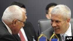 Vaclav Klaus i Boris Tadić na Samitu u Novom Sadu