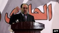 رئيس الوزراء نوري المالكي يتحدث في إحتفالية بذكرى تأسيس الشرطة العراقية