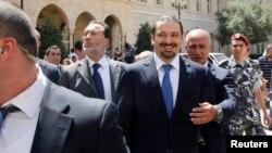 سعد حریری، نخستوزیر پیشین لبنان، که فهرست مورد حمایت وی در انتخابات شهرداریهای بیروت به پیروزی رسید.
