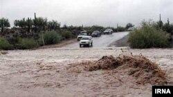 Flood in Iran cut off road in Lorestan province. File photo