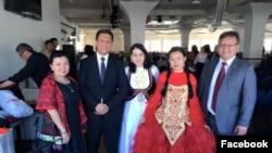 На мероприятии Казахского культурного центра в Лондоне.