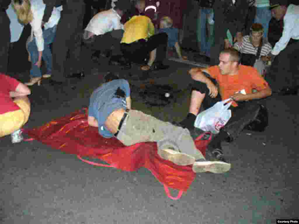 Most of the injured were young revelers, many of whom did not hear the blast above the noise and fireworks.