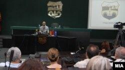 Прес-конференција на градоначалникот на Скопје Коце Трајановски.