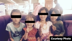 Maryam (far right) with three other children brought home from Iraq.