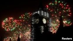 Focuri de artificii la Londra