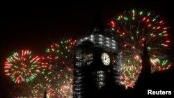 Лондон приветствует приход Нового года