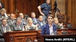 """""""Posvećenost, odlučnost, otvorenost i hrabrost – vrednosti su na kojima će se zasnivati moj rad"""", obećala je premijerka Ana Brnabić pre godinu dana na početku mandata"""