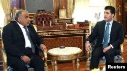 İraq Maliyyə naziri Hoshiyar Zebari və Kürdistanın baş naziri Nechirvan Barzani
