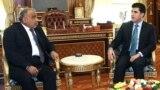 وزير النفط عادل عبد المهدي في أربيل مع رئيس حكومة إقليم كردستان العراق نيجيرفان بارزاني