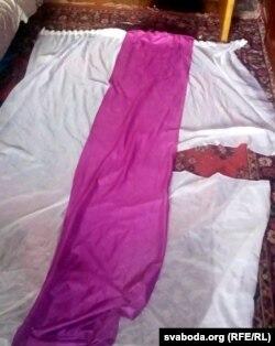 Сьцяг, пашыты сям'ёй Іваньковых