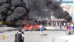 Світ у відео: Дим та вогонь повернулися на майдан Незалежності