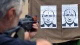 Мішень у вигляді портрета президента Росії Володимира Путіна в розпал війни України з Росією. Стрільбище у Львові, 31 серпня 2014 року (ілюстраційне фото)