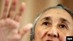 Дүниежүзілік ұйғыр конгресінің президенті, құқық қорғаушы Рәбия Қадыр. Токио, 29 шілде 2009 жыл.