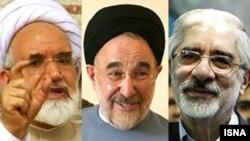 میرحسین موسوی، محمد خاتمی و مهدی کروبی
