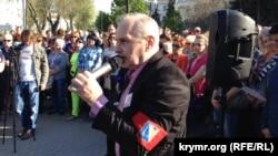Владимир Новиков на митинге в Севастополе, 27 апреля 2018 года