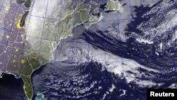 Мапа руху урагану «Сэндзі»