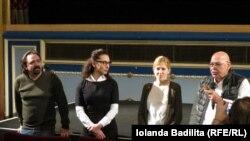 Igor Cobileanski, Corina Călugaru (diplomat, reprezentanta R. Moldovei pe lângă Consiliul Europei), Olga Baltag (ADERS) și Faruk Günaltay (Directorul Cinema Odyssee, Strasbourg)