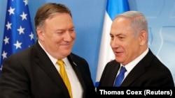 نتانیاهو و پومپئو در جریان دیداری که ۲۹ آوریل در تلآویو داشتند