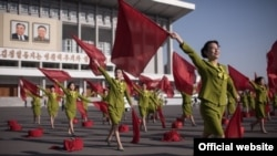 Кадр из северокорейской рекламы для туристов