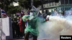 Pamje nga protestat në Tajlandë