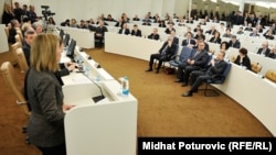 Federica Mogherini se obraća Parlamentu BiH