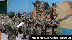 Подразделение украинских пограничников в Херсоне (архивное фото)
