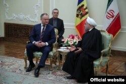 Igor Dodon la Teheran, primit de președintele Hassan Rohani