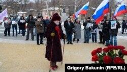 Митинг в память о Немцове в Ростове-на-Дону