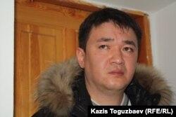 """Данияр Молдашев, бывший издатель оппозиционной газеты """"Голос республики"""". Алматы, 18 февраля 2013 года."""