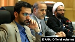 Rouhani's proposed minister for Communications Ministry, Mohammad Javad Azari Jahromi, in parliament, on Monday August 14, 2107.