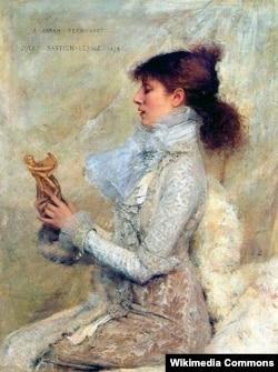 Жюль Бастьен-Лепаж. Портрет Сары Бернар. 1879