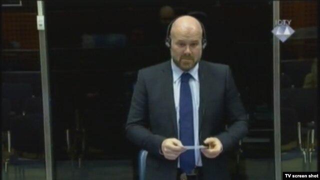 Svjedok Patrick van der Weijden u sudnici, 10. siječnja 2013.