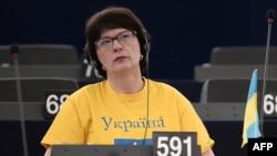 Сандра Калніете в Європейському парламенті, 12 березня 2014 року
