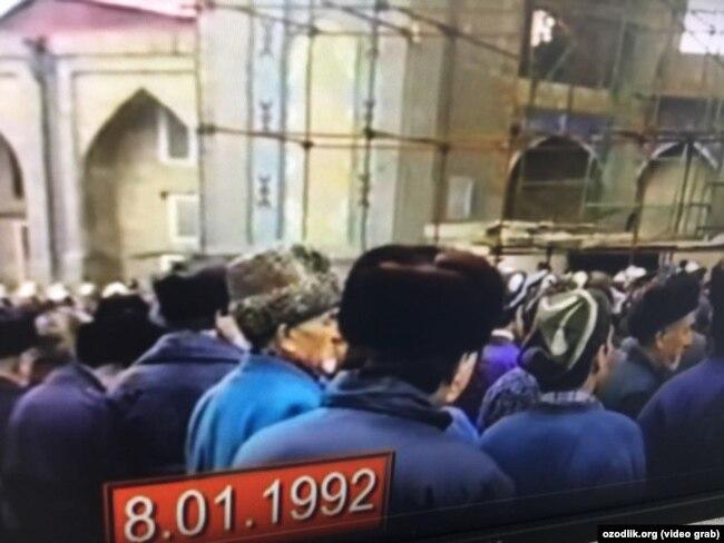 Муфтини ишдан олиш учун 1992 йилдаги митинг