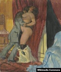 Борис Кустодиев. В муках страсти. 1920