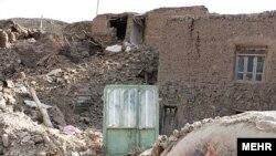 ویرانی پس از زمینلرزه در زهان