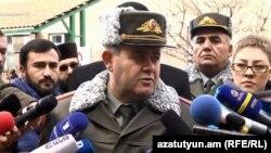 Начальник Генштаба ВС РА Артак Давтян, Ереван, 8 января 2019 г.