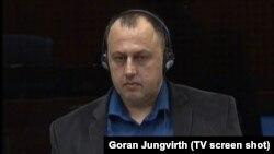 Neđo Jovičić na suđenju Ratku Mladiću u Hagu