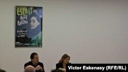 Dr. Ingrid Pfeiffer, curatoarea expoziției, la conferința de presă de la Schirn Kunsthalle