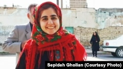 File photo - Iranian civic and labor activist Sepideh Qolian before her detention.