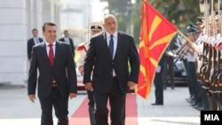 Зоран Заев и Бојко Борисов - Пречек на бугарскиот премиер во Скопје, 1 август 2019