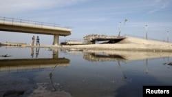 Uništeni most u Gazi, 21. novembar 2012. godine