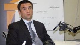 Украина сыртқы істер вице-министрі Павел Климкин Азаттықтың Киевтегі бюросында. 12 мамыр 2011 жыл.