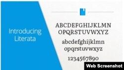 «Literata» yazı tipi