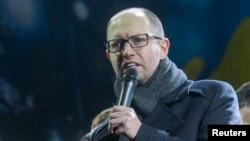 """Арсений Яценюк, лидер фракции партии """"Батькивщина"""" в Верховной Раде Украины."""