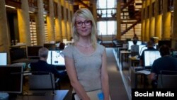 Журналист финской телерадиокомпании YLE Джессика Аро.